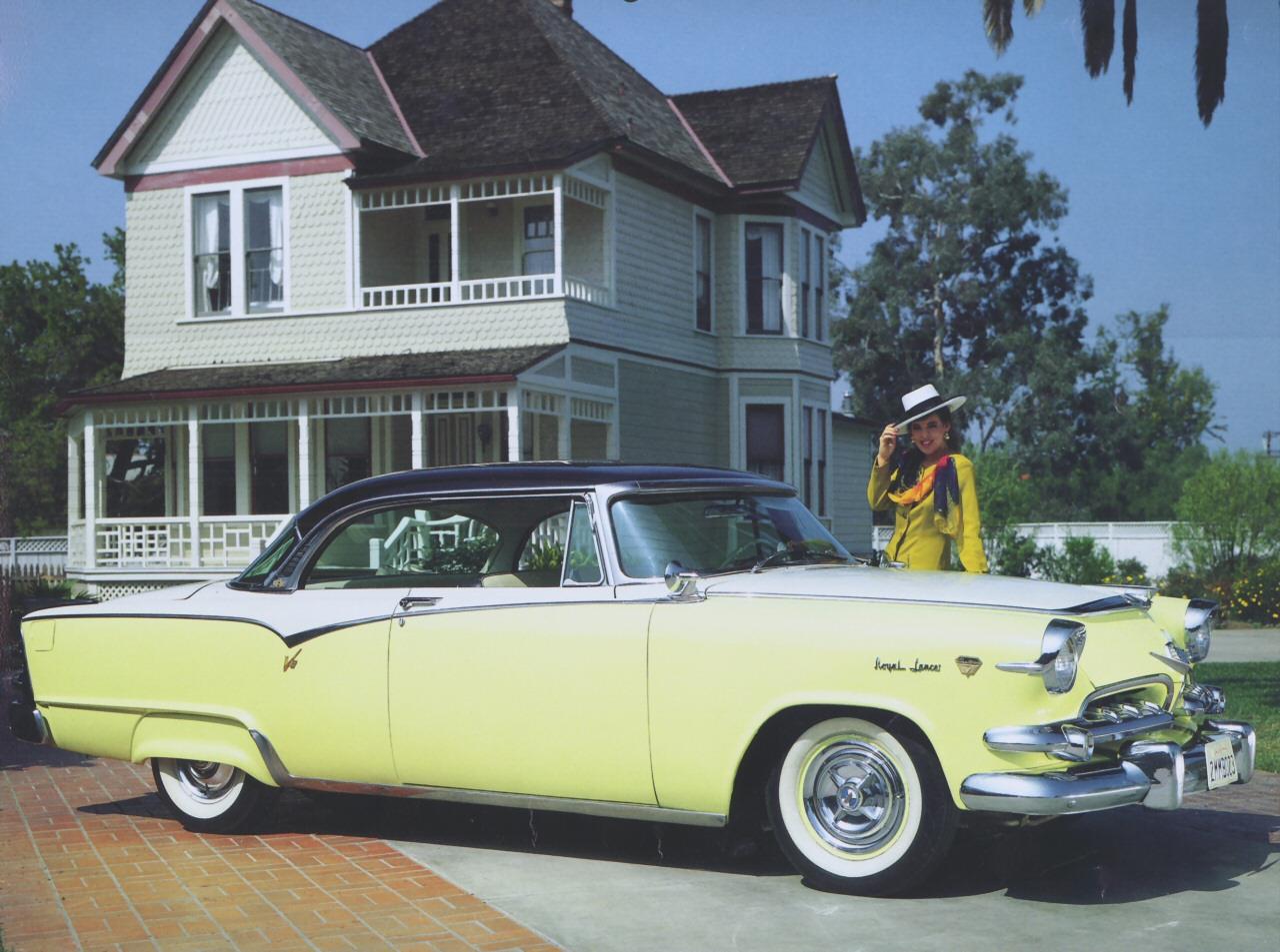 1955 dodge royal lancer convertible cream black fvr cars - 39 1955 Dodge Custom Royal Lancer Hardtop Coupe Yellow White Black