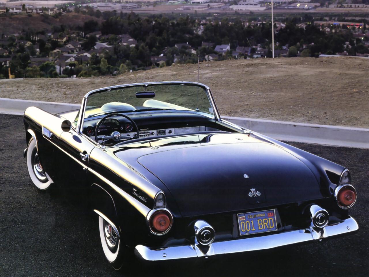 1955 dodge royal lancer convertible cream black fvr cars - 44 1955 Ford Thunderbird Roadster Black