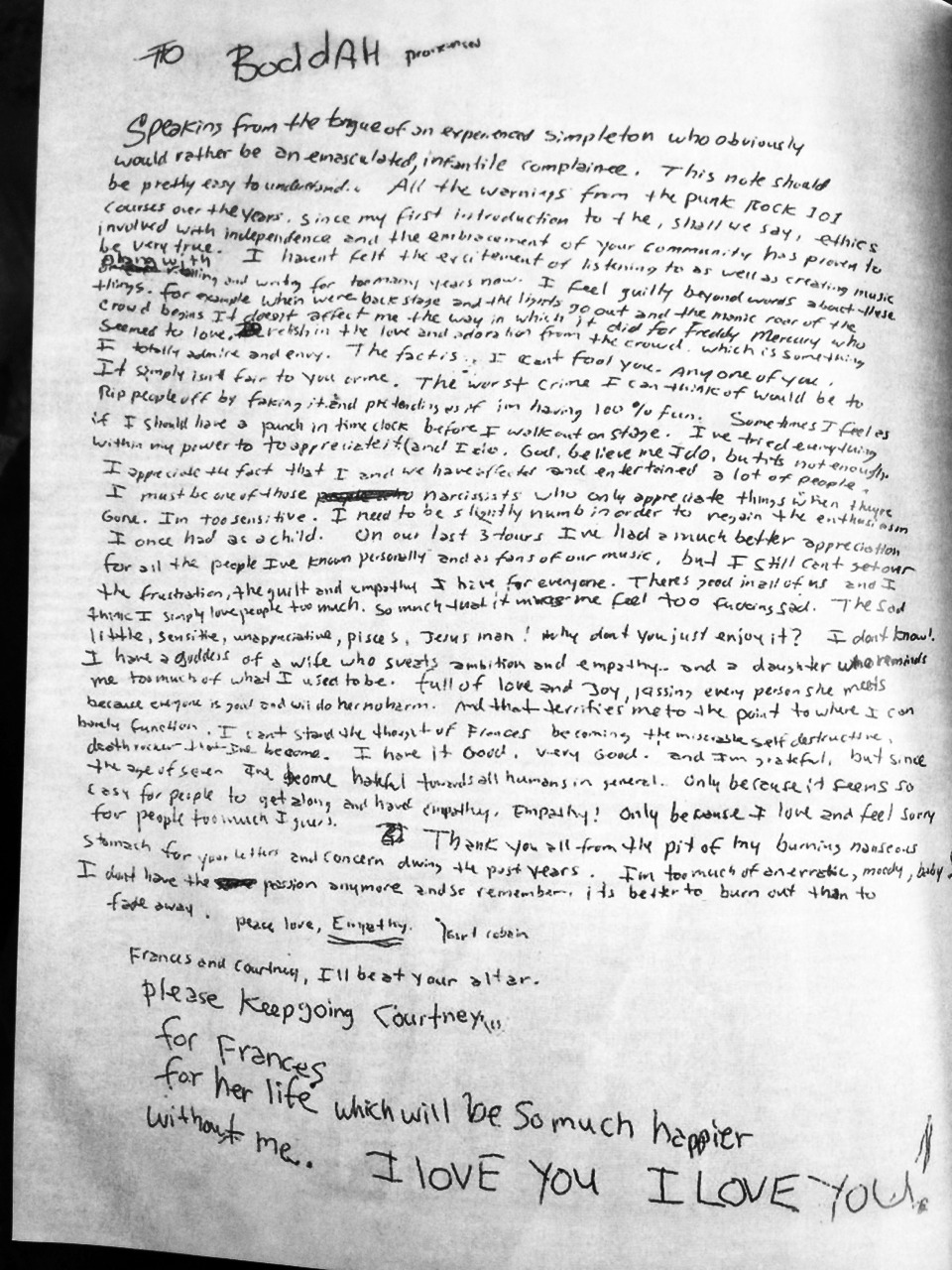 kurt cobains death In mailonline's exclusive clip from benjamin statler's anticipated film soaked in bleach, experts are seen dissecting kurt's suicide note.