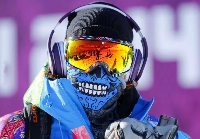 12 - Skeleton face mask for skiing.