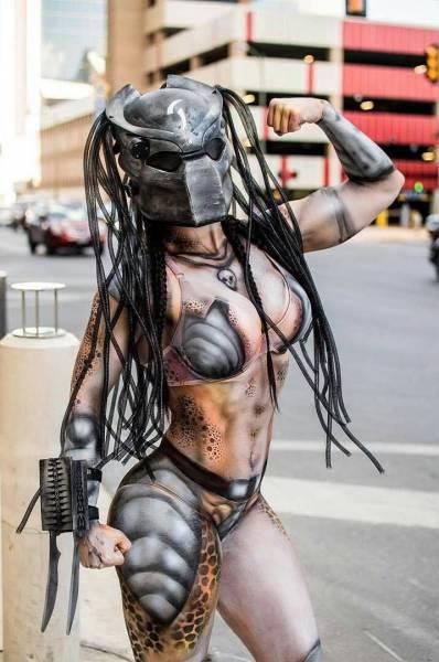23 - Sexy predator cosplay.