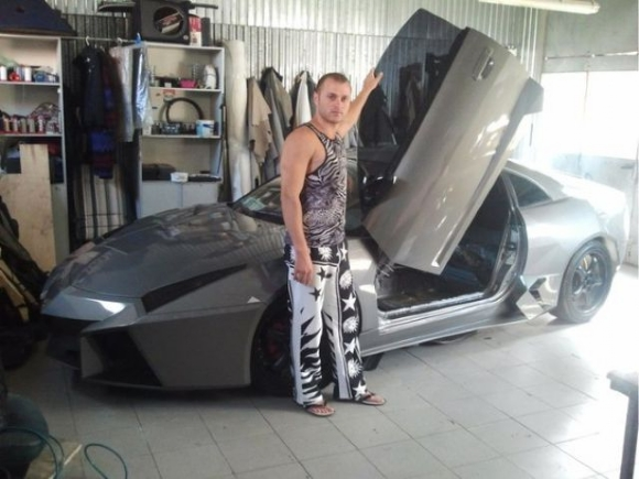 1 - Dude Turns Car Into Lamborghini