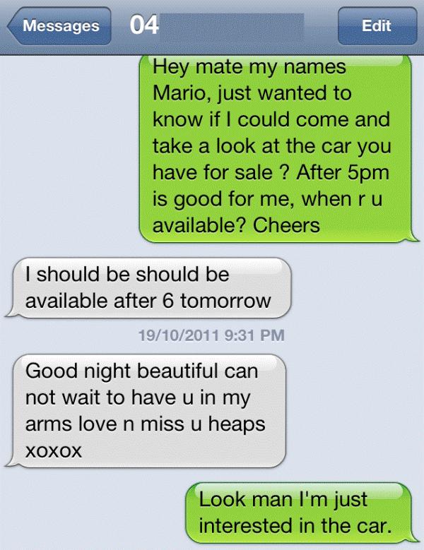 Text message fail