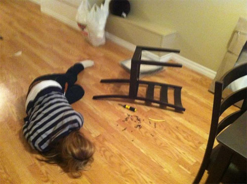 18 People Who Have Failed At Putting Together Ikea Furniture