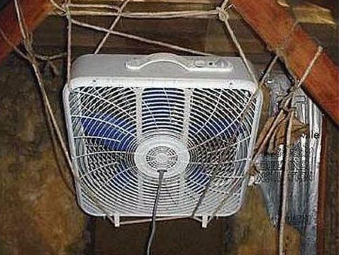 8 - 15 Hilarious Homemade Air Conditioners