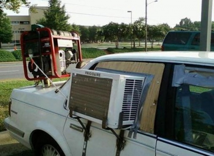 9 - 15 Hilarious Homemade Air Conditioners