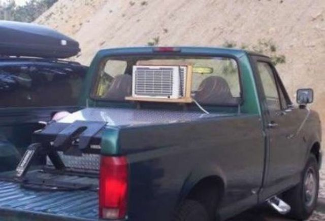 11 - 15 Hilarious Homemade Air Conditioners
