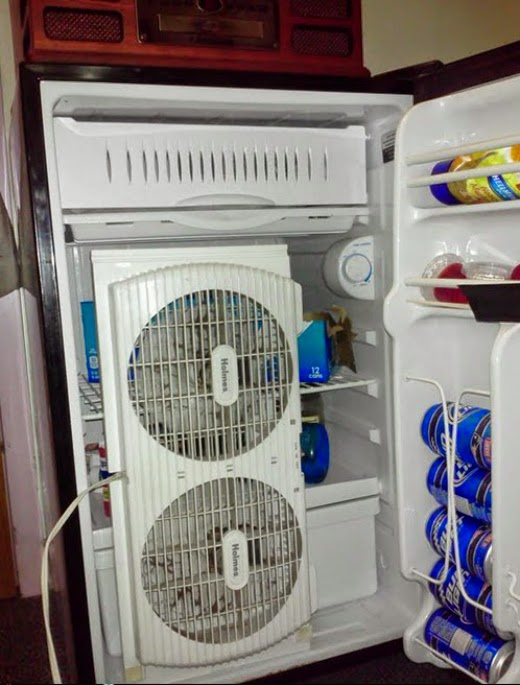 13 - 15 Hilarious Homemade Air Conditioners