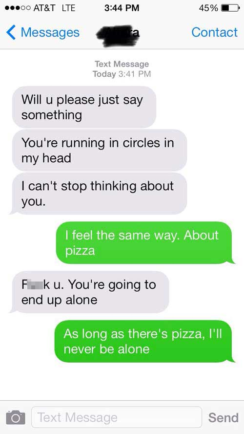 Funny flirty text messages to send
