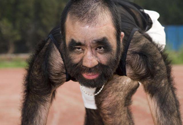 17 - Yu Zhenhuan, world's hairiest man.