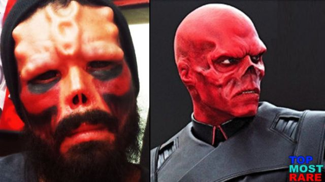 5 - Man with red skull.