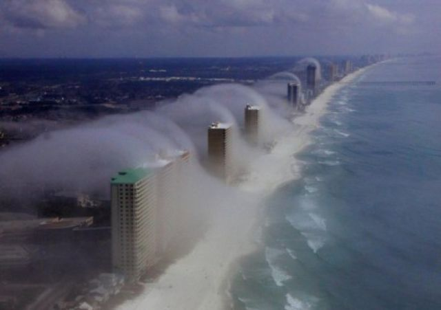 "20 - Certain stretches of the Flordia Panhandle's coastline are so developed that some of the larger buildings have their own weather patterns. It's known as ""condo fog."""