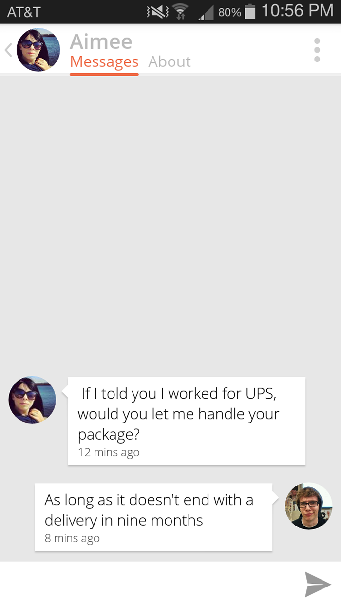 Package pick up lines