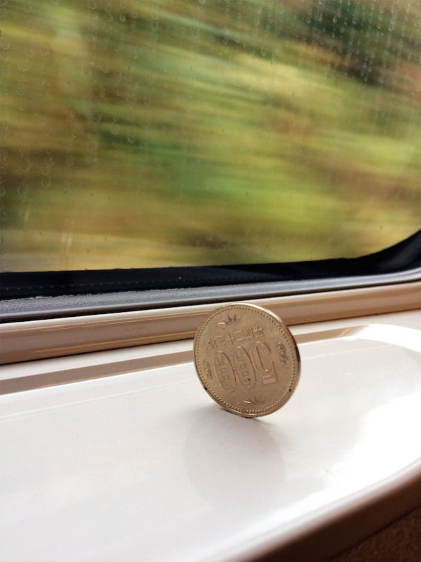 9 - How smooth the bullet train is.