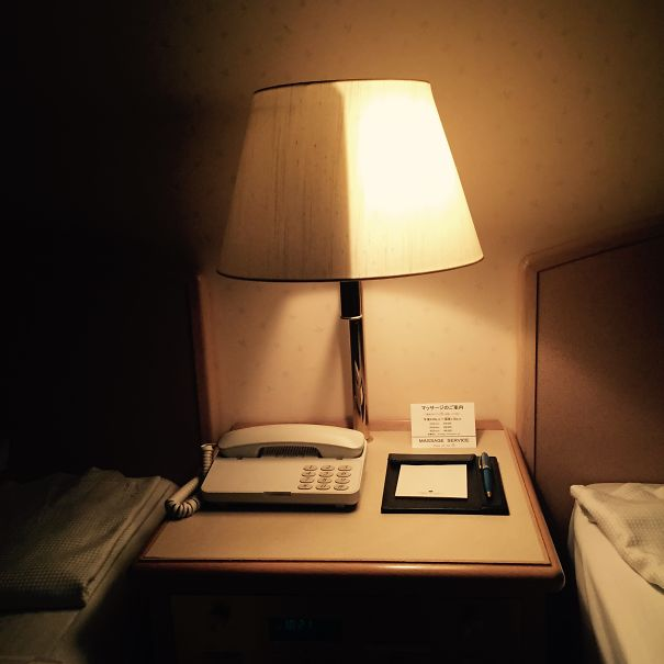 25 - Hotel room lamp.