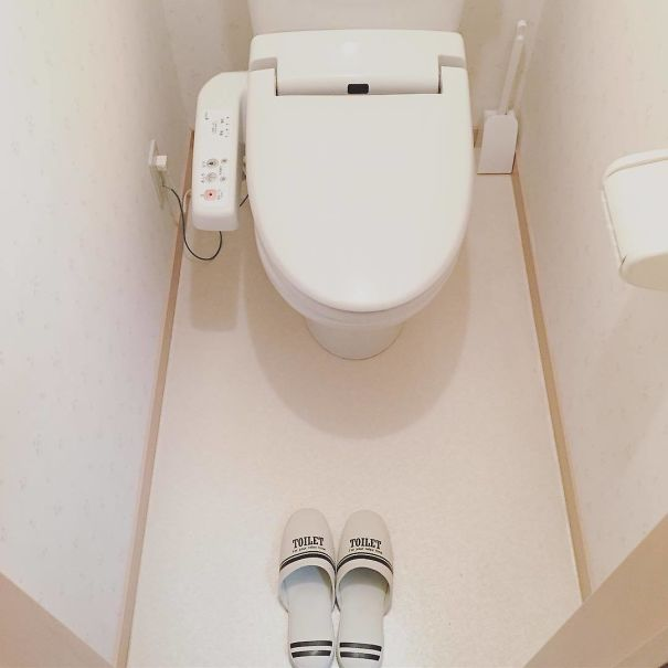 35 - Bathroom slippers.