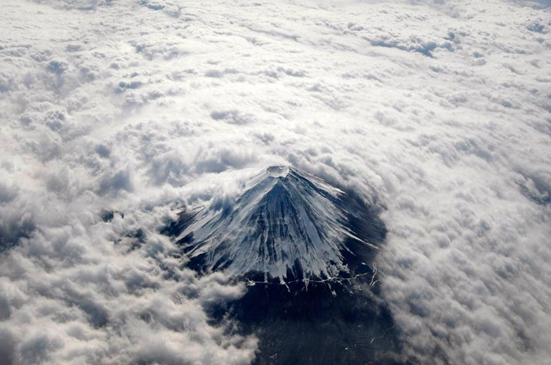 9 - Mount Fuji from above the clouds