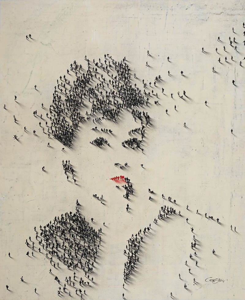 14 - Audrey Hepburn people pixel portrait from above