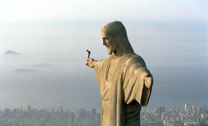 4 - Base jumping from Christ the Redeemer in Rio de Janeiro Brazil