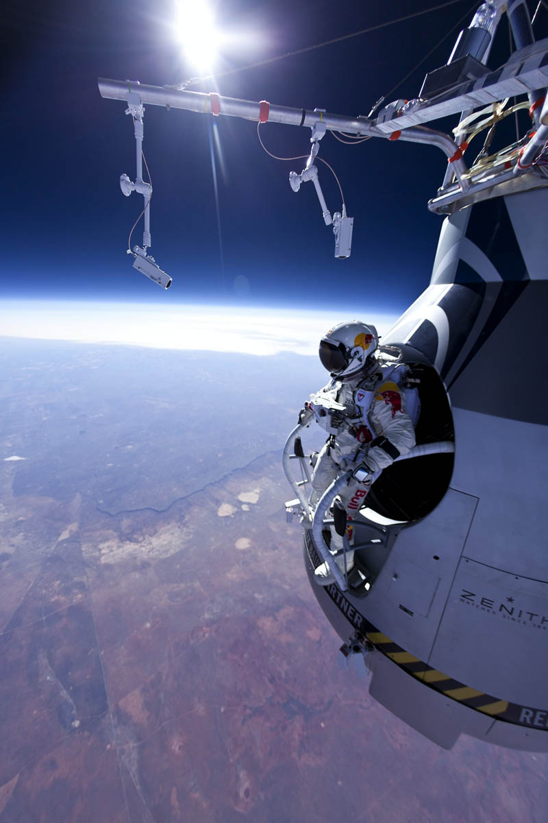 19 - Felix Baumgartner jumps 71,580 feet from Red Bull Stratos