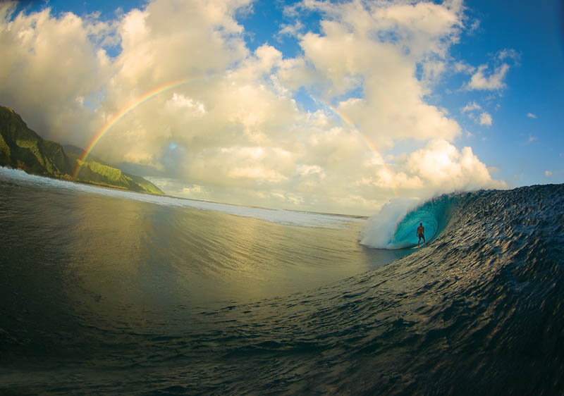 37 - Rainbow surf shot