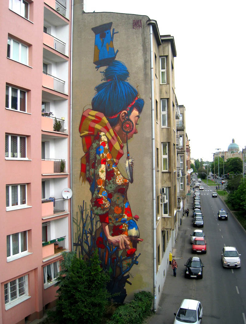 43 - street art graffiti by Sainer Etam crew Lodz Poland
