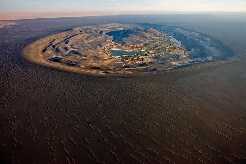 47 - Volcanic crater of Wau-Al-Namus Libya