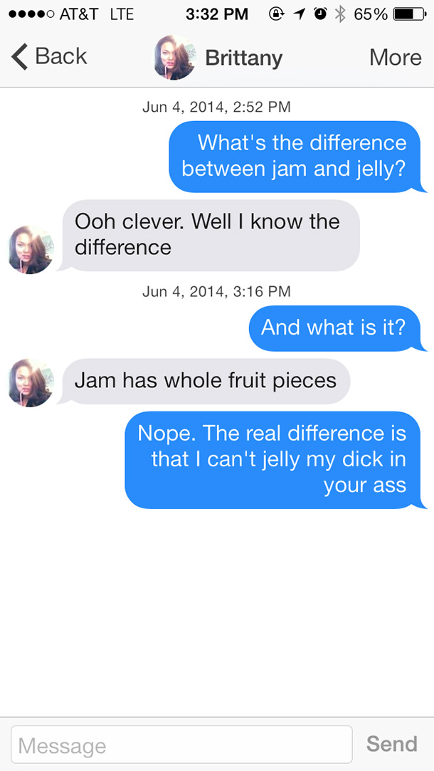 whats the difference pick up lines
