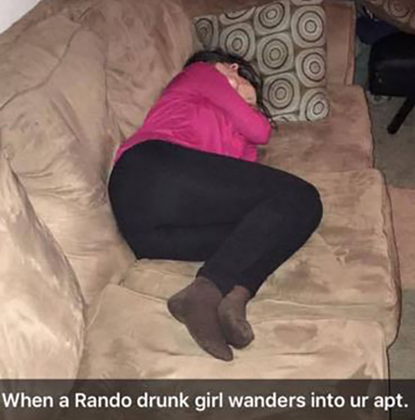 Drunk girl gets used