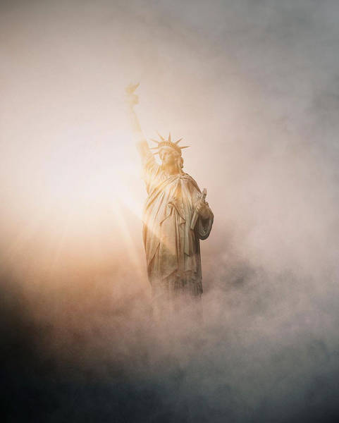 12 - Great picture of the Statue of Liberty in the fog