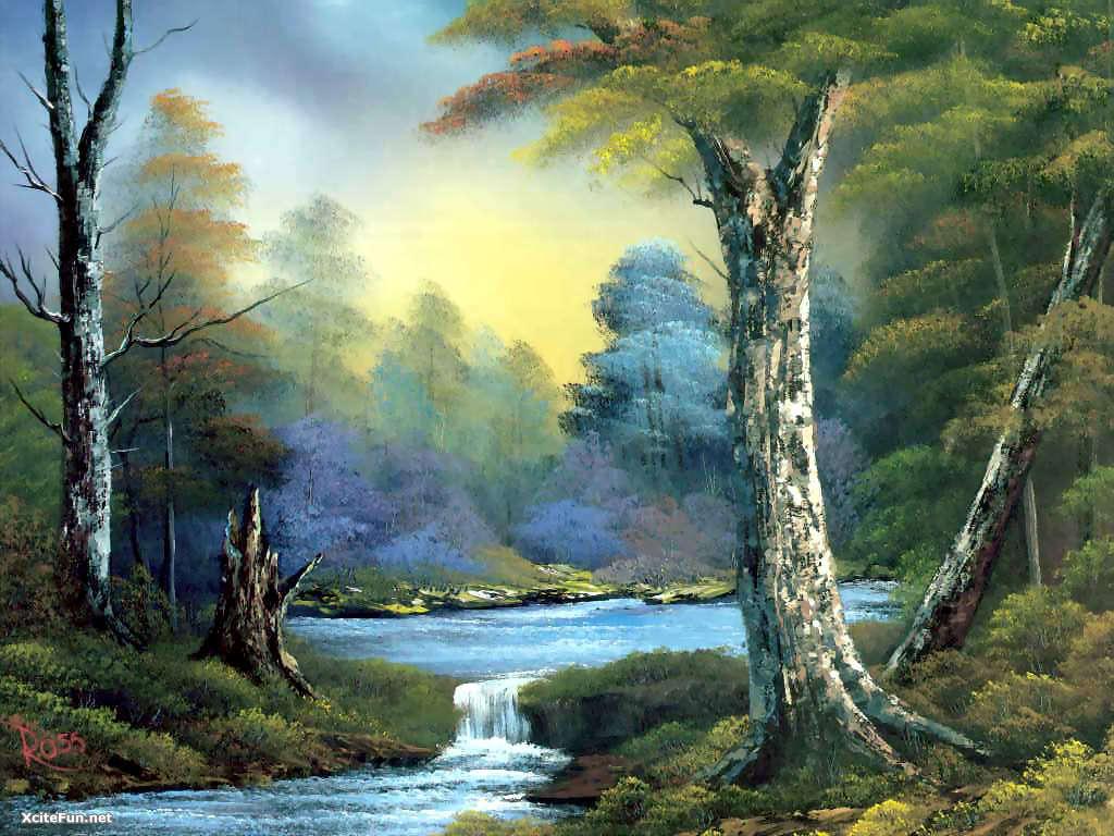 Bob ross paintings gallery ebaums world 2 bob ross paintings voltagebd Choice Image