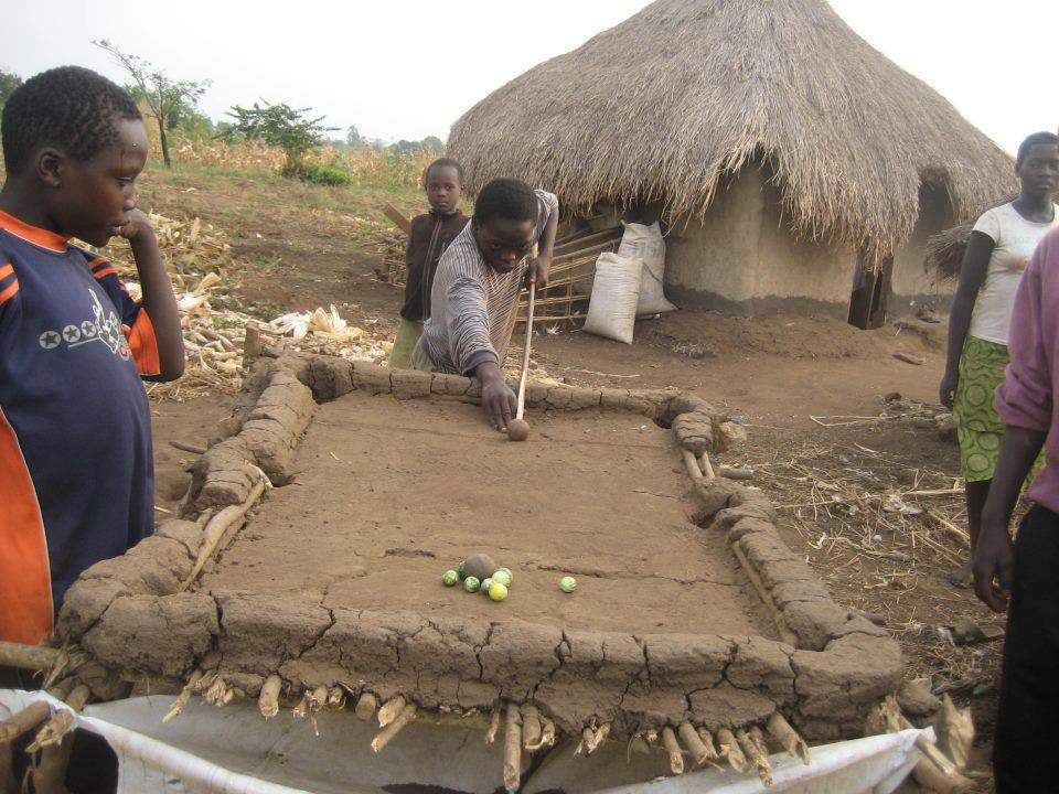 4 - You make a pool table out of mud