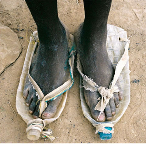 12 - You make shoes out of old plastic bottles