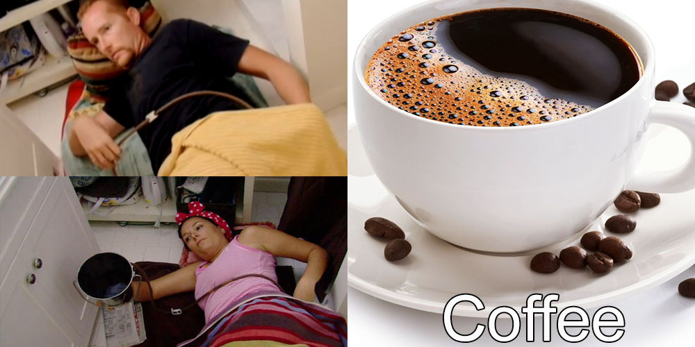 6 - Addicted to Coffee Enemas: Mike and Trina admits they perform their caffeinated enema at least four times a day.