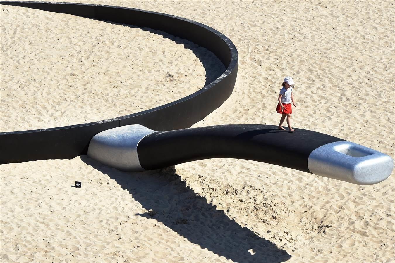 2 -  A Frying pan beach sculpture in Sydney, Australia