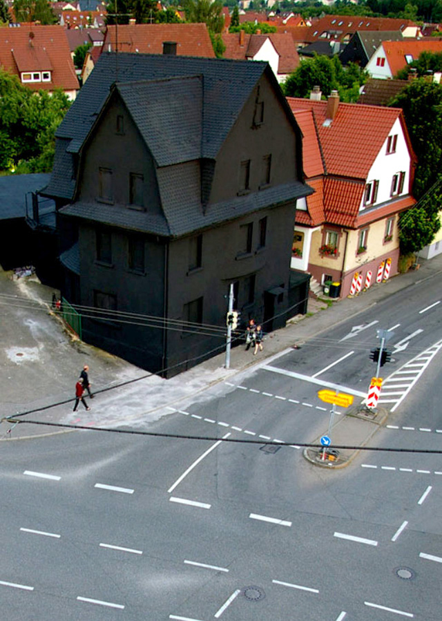 7 -  A all black house in Germany