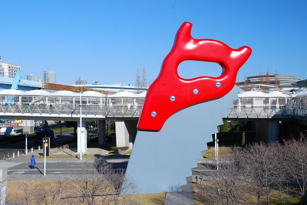 9 -  Saw Sawing by Claes Oldenburg
