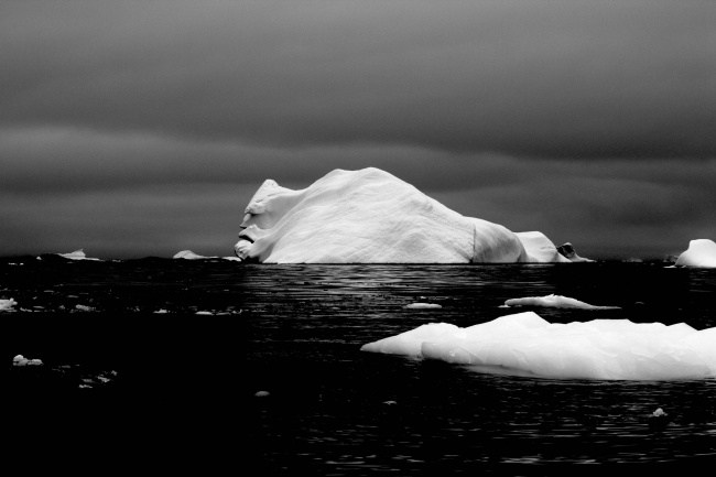 16 -  The face of an iceberg