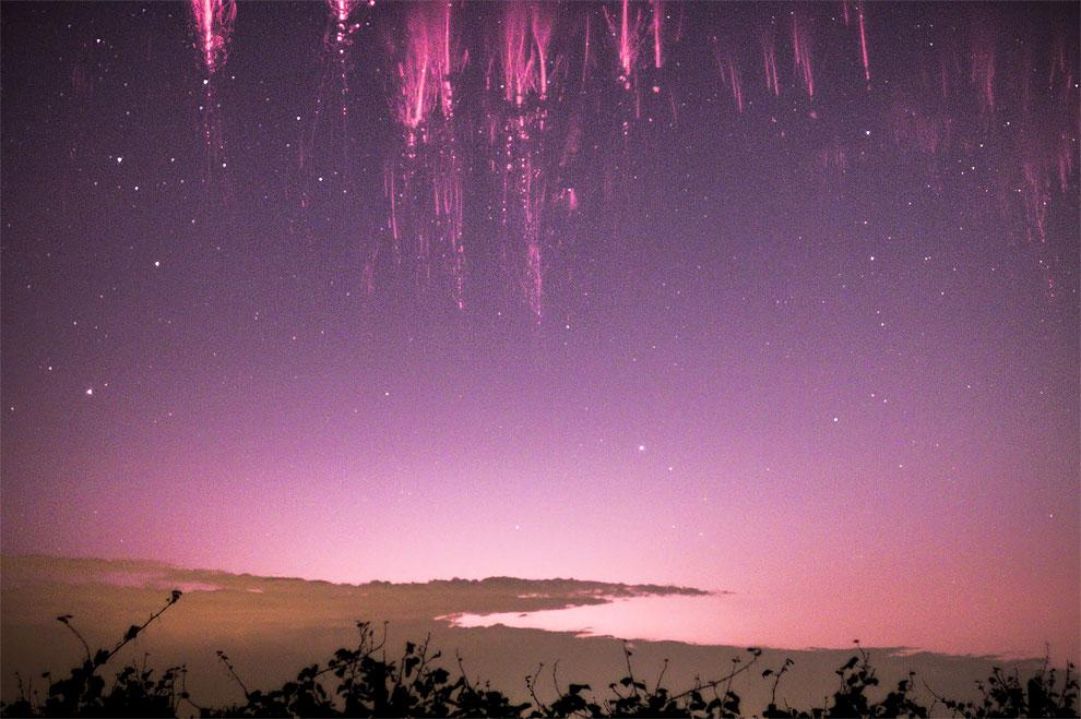 20 - Rare sprite lightning over Italy