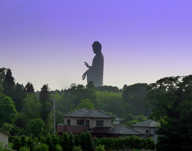 5 - The tallest statue in the world, Ushiku Daibutsu, is in Japan and stands 390 feet tall.