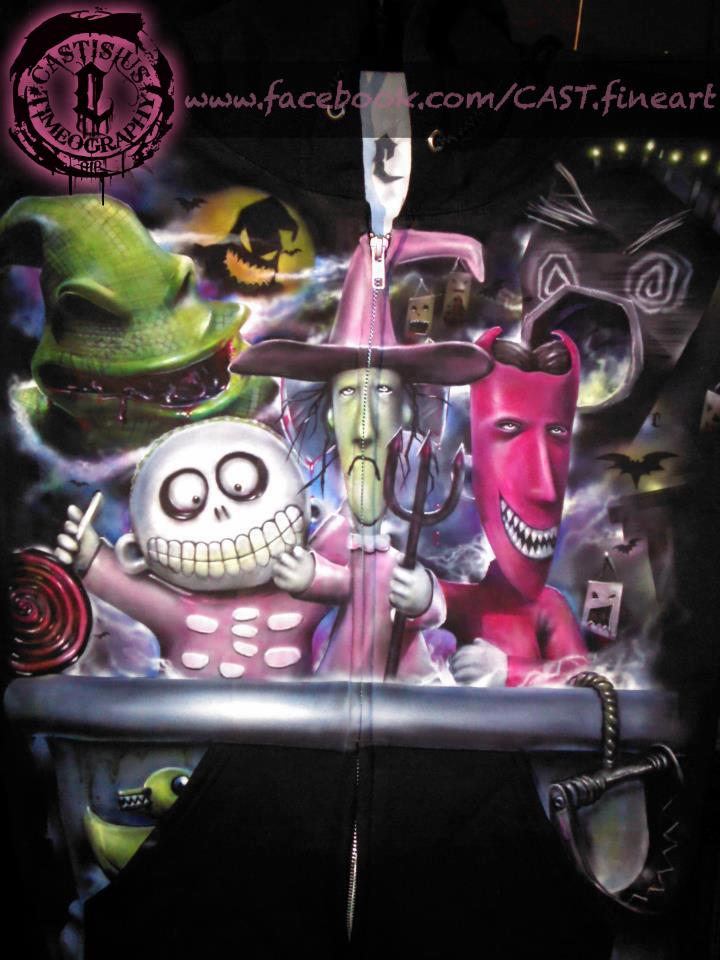 Nightmare Before Christmas airbrushed hoodie by CAST - Picture