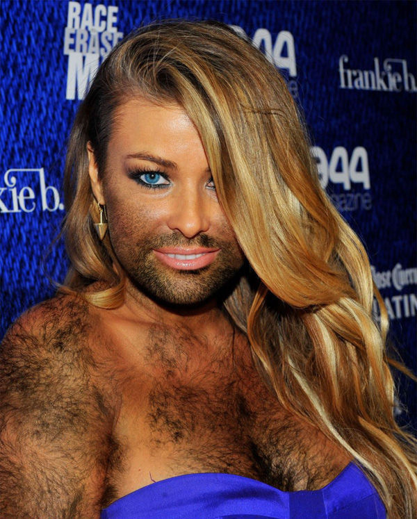 Opinion you Female celebrities with facial hair would