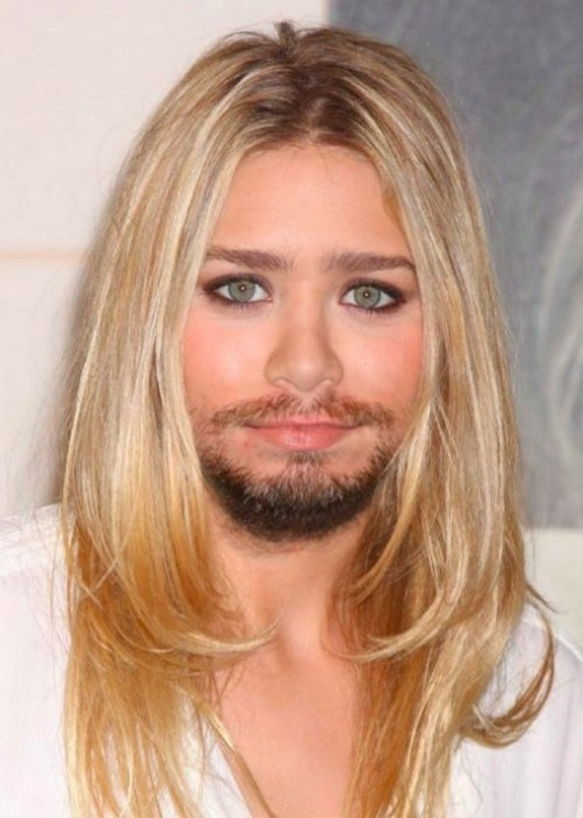 You Female celebrities with facial hair