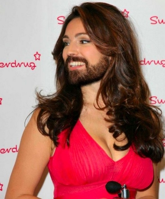 Join. Female celebrities with facial hair not absolutely