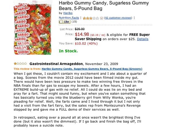 haribo sugar free gummy bears amazon reviews funny