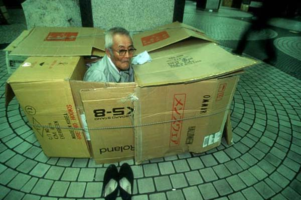 the homeless box people of shinjuku japan gallery. Black Bedroom Furniture Sets. Home Design Ideas