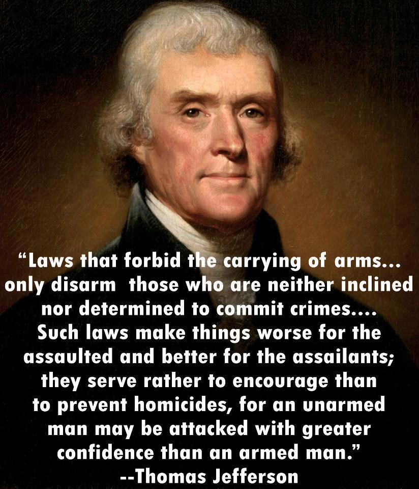 Quotes On Gun Control Thomas Jefferson On Gun Control  Picture  Ebaum's World