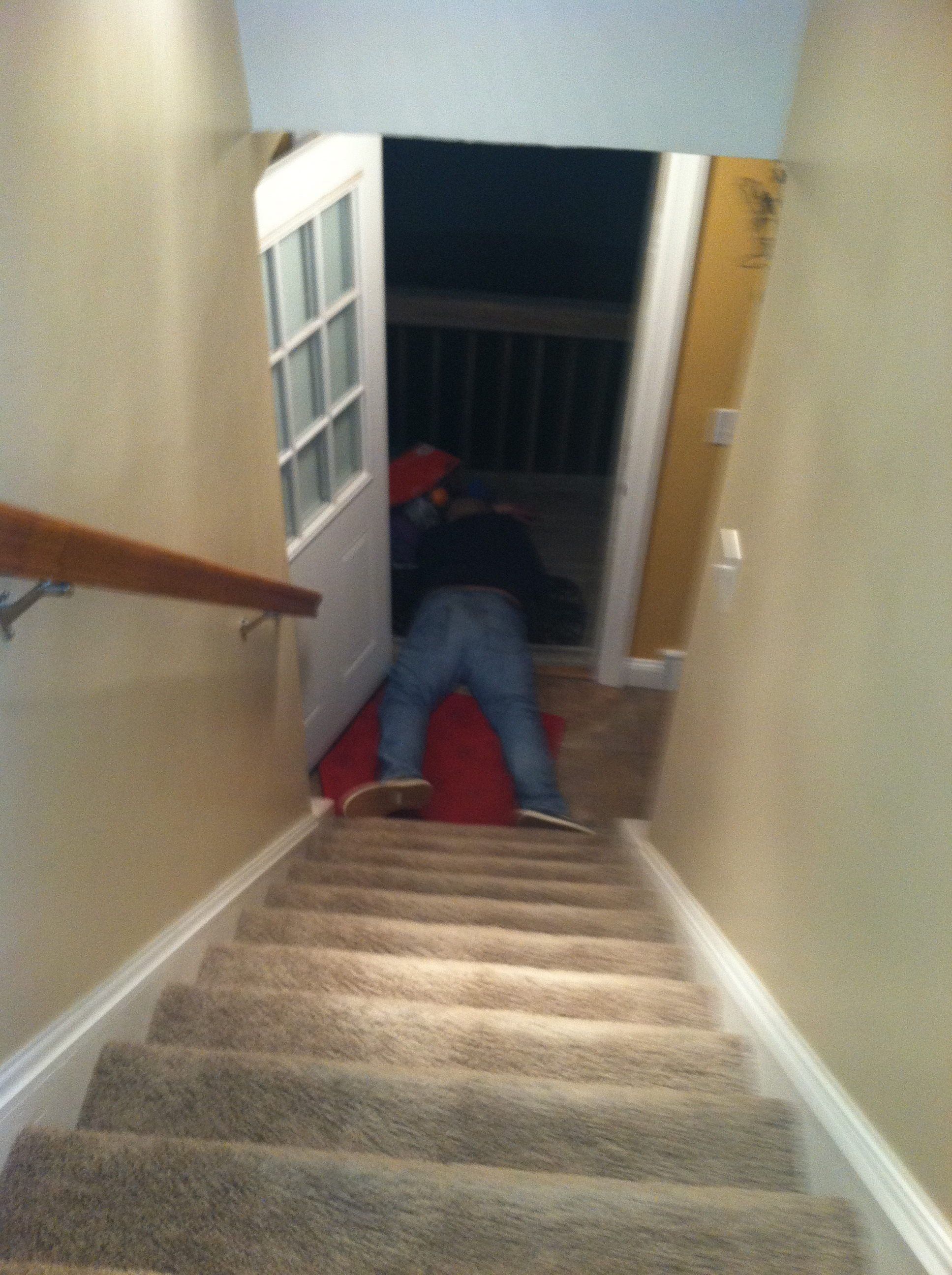 Kid Falls Down Stairs