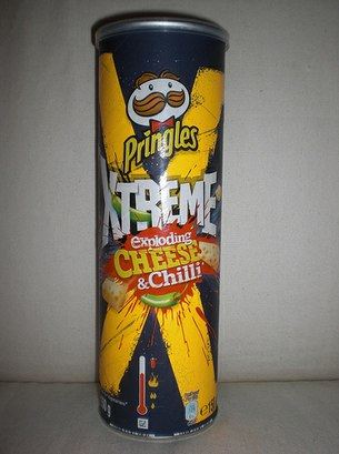 I once beat a burglar unconscious with a Pringles tube.