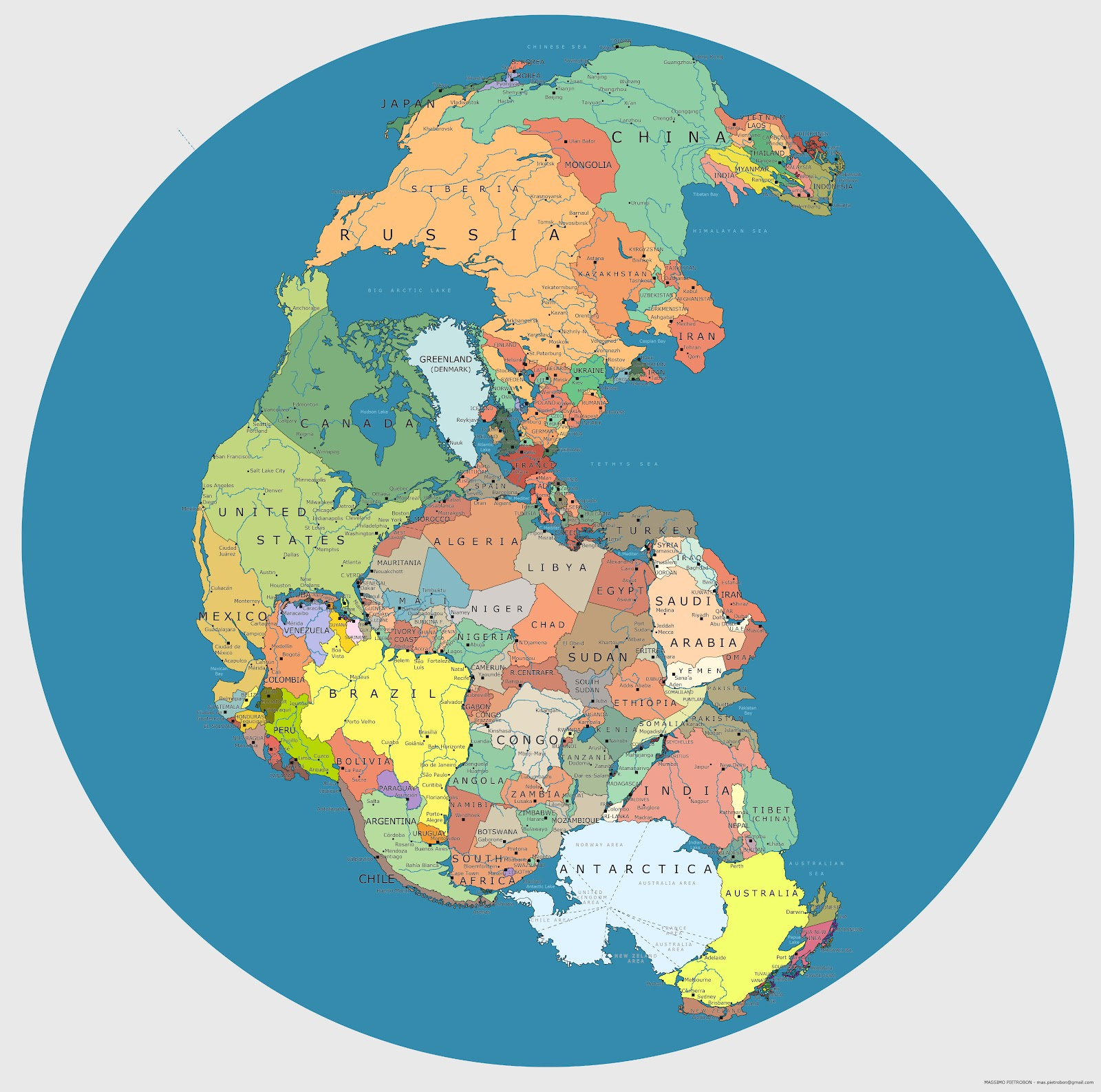 21 maps that will blow your mind gallery ebaums world 2 map of pangea with current international borders gumiabroncs Image collections